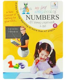 My first writing book of numbers 1 to 50 - English
