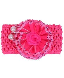 Mauve Collection Cute & Trendy Headband With Flower - Pink