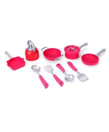 Tea And Kitchen Set Pink - 9 Pieces