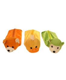 Ultra Animal Character Pencil Pouch - Orange Yellow Green