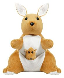 Ultra Mother & Baby Kangaroo Soft Toy - 12 inches