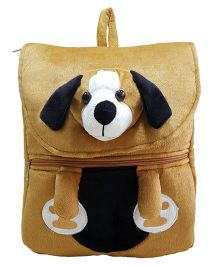 Ultra Felt Velvet School Bag With Dog Soft Toy - 12 inch