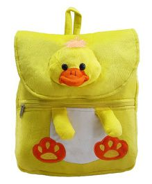 Ultra Felt Velvet School Bag With Chick Soft Toy - 12 inch