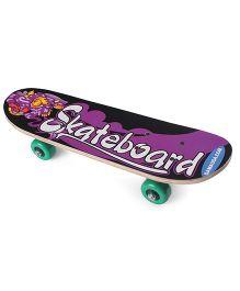 Printed Skate Board - Purple