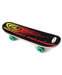 Bobby Puled Printed Skate Board - Black
