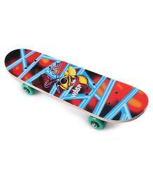Bee Printed Skate Board - Multicolor