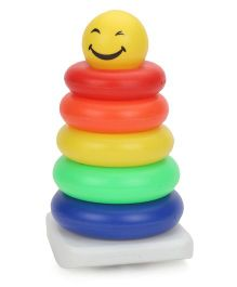 Ratnas Smiley Stack A Ring - Multicolor