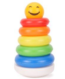 Ratnas Smiley Stack A Ring - Multicolor