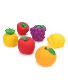 Ratnas Squeaky Toys Fruits 6 Pieces (Colors may Vary)