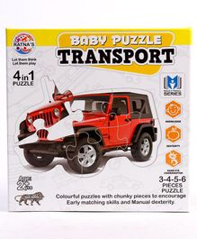 Ratnas Jigsaw Transport Theme 4 in 1 Puzzle - 18 Pieces