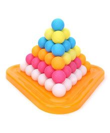 Ratnas Pyramid Puzzle Ball Multicolor - 61 Pieces