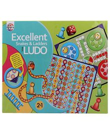Ratnas Snake And Ladder Game With Ludo - Multicolor