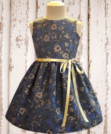 A.T.U.N Evening Gala Dress - Navy & Gold