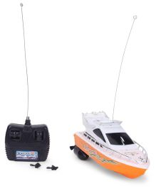 Remote Controlled Racing Boat - Orange And White