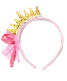 ATUN Glitzy Crown Hair Band - Golden