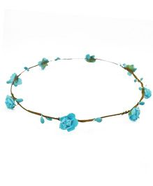 ATUN Flower Boho Tiara - Blue