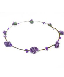 ATUN Flower Boho Tiara - Purple
