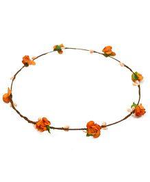 ATUN Flower Boho Tiara - Orange