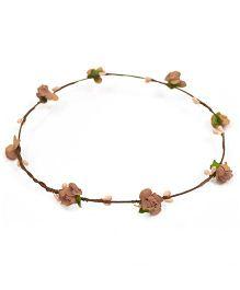 ATUN Flower Boho Tiara - Brown