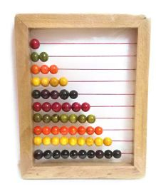 Playthings Wooden Abacus - Light Brown