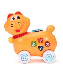 Cat Shaped Musical Toy - Orange