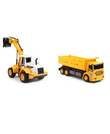 Construction Trucks Pack of 2 - Yellow