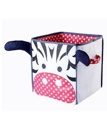 My Gift Booth Zebra Foldable Storage Boxes - White & Red