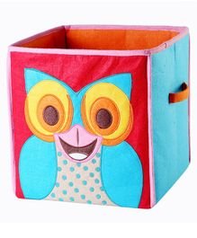 My Gift Booth Owl Foldable Storage Boxes - Red & Sky Blue