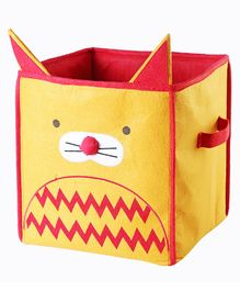 My Gift Booth Cat Design Storage Boxes - Yellow & Red