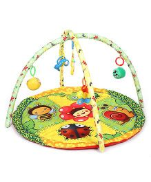 Baby Play Gym Bee Print - Green And Yellow