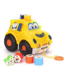 Fun Cars Eyes Print With Puzzle - Yellow