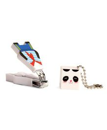 Adore Baby Cartoon Nail Clipper With Cap (Color & Character May Vary)