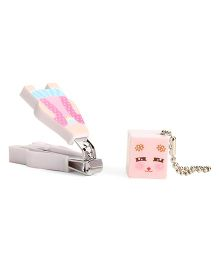 Adore Baby Cartoon Nail Clipper With Cap Light Pink (Character May Vary)