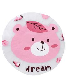 Adore Baby Shower Cap Cartoon Dream Print - White & Pink