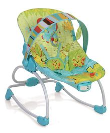 Mastela Newborn To Toddler Rocker - Green And Blue