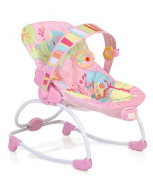 Mastela Newborn To Toddler Rocker - Green And Pink