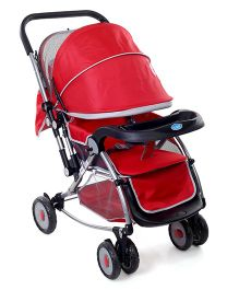Baby Rocking Stroller With Canopy - Red