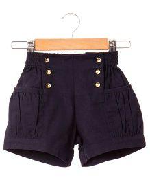 Hugsntugs Twill Shorts - Navy Blue