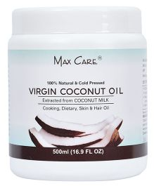 Maxcare Virgin Coconut Oil Cold Pressed Wide Mouth - 500 ml