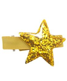 Little Cuddle Star Hair Clip - Gold & Yellow