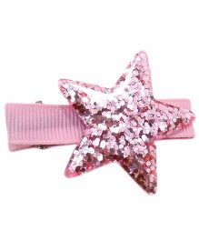 Little Cuddle Star Hair Clip - Pink