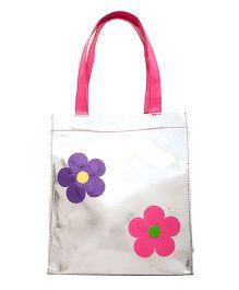 Li'll Pumpkins Flower Print Tote Bag - Silver