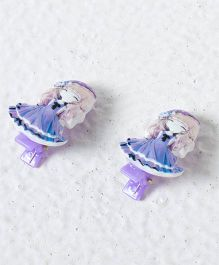 Treasure Trove Pair Of Dolls Alligator Hair Clip  - Purple
