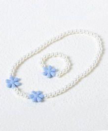 Treasure Trove Pearl Jewellery - White And Blue