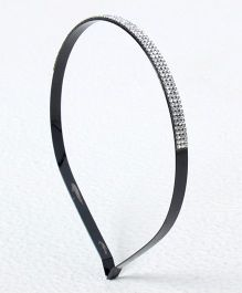 Treasure Trove Stone Studded Hair Band - Black