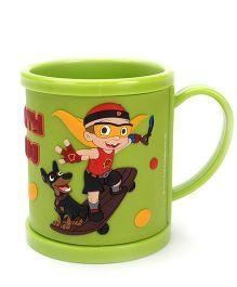 Mighty Raju Print Mug Green -  300 ml