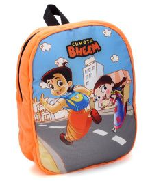 Chhota Bheem School Bag Chutki Design Orange - 14 Inches