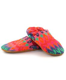 Skips Printed Slip On Jootie Booties - Multi Color