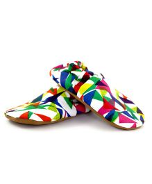 Skips Printed Slip On Jootie Booties - Multi Color