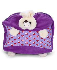 Play And Pets Rabbit Plush Bag Purple - 12 Inches
